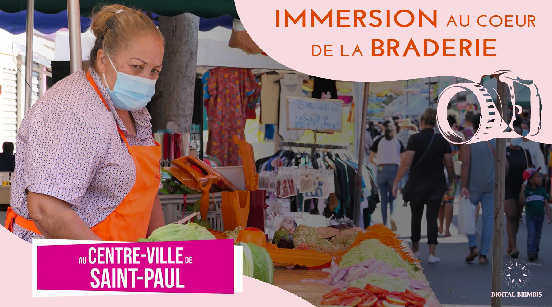Les commerçants de Saint-Paul adoptent la vidéo pour le retour de la Braderie 2021